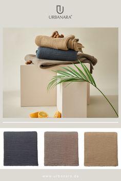Die Kollektion Sierra wird von unseren Partnern in Portugal aus GOTS-zertifizierter Bio-Baumwolle gefertigt und mit einer innovativen, schonenden Färbetechnik, dem EarthColors-Prozess, gefärbt. Mit diesen warmen Tönen der Natur bringt die Tagesdecke Sierra wunderschöne, natürliche Akzente in Ihr Zuhause. Die Struktur von Sierra erinnert an Gauzé und hat einen charmanten Knitterlook, der für ruhige, entspannte Momente sorgt – ob auf dem Bett oder dem Sofa. 100% Bio-Baumwolle. Natural Bedroom, Soft Blankets, Linen Bedding, Pillows, Bed, Ad Home, Nice Asses, Linen Sheets, Nature Bedroom