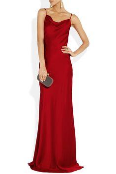 Michael Kors|Sateen-crepe gown |Shown here with: Lanvin earrings, Yves Saint Laurent ring, Jimmy Choo shoes, Alexander McQueen bag.
