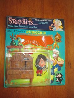 Extremely Rare Vintage Pinocchio Storykins Hasbro Little Mini Doll Liddle Kiddle