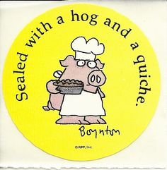 Vintage 80's Sandra Boynton Pig Sealed with a by Stuckonstickers