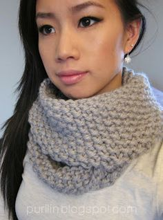 Seed Stitch Infinity Circle Scarf, Hometown yarn, 10mm circular 36""