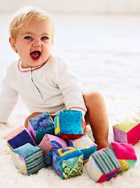 Adorable Baby Blocks  Try this one and add your own touch to spell out the baby's name with the blocks you have made.