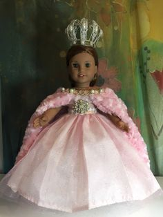 A personal favorite from my Etsy shop https://www.etsy.com/listing/485665457/american-girl-custom-sparkling-pink