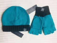TOMMY HILFIGER Beanie HAT and GLOVES Set Size: ONE SIZE New SHIP FREE Teal Blue #TommyHilfiger Tommy Hilfiger Store, Teal Blue, Beanie Hats, Work Wear, Winter Outfits, Gloves, Fall Winter, Ship, Summer Dresses