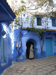 Chefchaouen, Morocco, a great little town in the Mountains.
