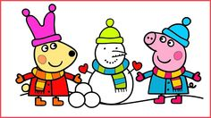 Peppa Pig Winter English Episodes Drawing Motion Animation All New Engli...