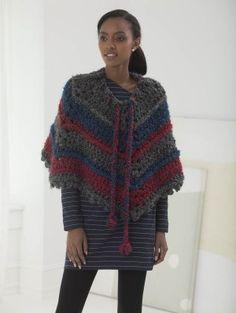 V-Poncho (Crochet) - Patterns - Lion Brand Yarn