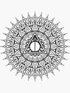Coloriage harry potter mandala | Conventiongymvolontaire ...