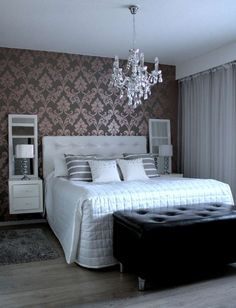 Sisustus - Makuuhuone - Maalaisromanttinen Future House, My House, Bedroom Ideas, Bedroom Decor, Couple Bedroom, Boudoir, Sweet Home, Bedroom Wallpaper, Beds