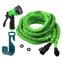 Best price on Expandable Garden Hose - 50 Ft, No Kink, Lightweight & Flexible Shrinking / Expanding Retractable Water Hose - Comes with Free Fittings (Spray Nozzle, Hose Hanger, Shutoff Valve, Extra Washers)  See details here: http://bestgardenreport.com/product/expandable-garden-hose-50-ft-no-kink-lightweight-flexible-shrinking-expanding-retractable-water-hose-comes-with-free-fittings-spray-nozzle-hose-hanger-shutoff-valve-extra-washers/    Truly the best deal for the new Expandable Garden…