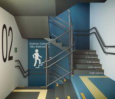 Floor Signage, Wayfinding Signage, Signage Design, Office Wall Design, Office Walls, Office Wall Graphics, Stair Handrail, Environmental Graphic Design, Railing Design