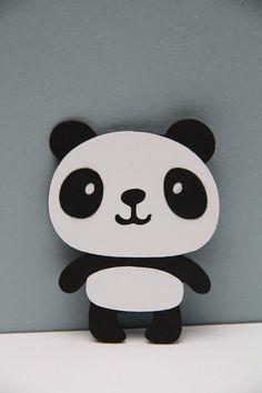 Panda Bear Die Cut-Set of 8 by CraftingCrew on Etsy