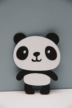 Panda Bear Die Cut-Set of 8 by CraftingCrew on Etsy Panda Birthday Party, Panda Party, Bear Party, Baby Birthday, Panda Bear Crafts, Panda Craft, Panda Mignon, Decoration Creche, Panda Lindo