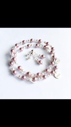 Personalised / custom colour double drop bracelet | Lark & Lily Designs