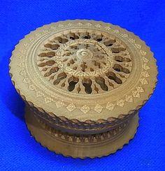 Vintage German Wood Carved Perfume Box #B