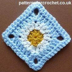 Free crochet pattern a simple granny square uk
