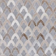 Mosaics & Waterjets - Facings of America - Ms Talya Multi Finish Sophia Marble Waterjet Mosaics