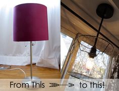table lamp to hanging lamp - brilliant!