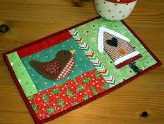 Mug Rug de Natal | Arte com Tecidos