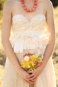 the cactus flower wedding dress