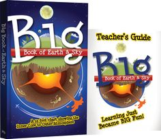 Designed by the creative team that developed the innovative and award-winning Big Book of History, the Big Book of Earth and Sky unfolds as a chart. Simply Learning, Fun Learning, Guide Book, Teacher's Guide, Foot Chart, Inner Core, World Geography, Charts And Graphs, Homeschool Curriculum