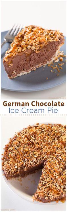 German chocolate ice cream pie!