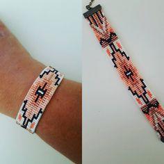 off loom beading Loom Bracelet Patterns, Seed Bead Patterns, Bead Loom Bracelets, Jewelry Patterns, Beading Patterns, Beading Ideas, Seed Bead Jewelry, Bead Jewellery, Beaded Jewelry