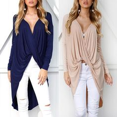 Sleeve Packaging, Pink Patterns, Blouses For Women, White Jeans, Fall Outfits, High Low, Stylish, Long Sleeve, Casual