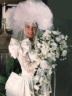 Funny Wedding Photos This Picture Captures the Veil. is listed (or ranked) 4 on the list The Most Radical Wedding Photos Ever - Big veil, big train, big everything Funny Wedding Dresses, Ugly Wedding Dress, Tacky Wedding, Funny Dresses, Perfect Wedding Dress, Designer Wedding Dresses, Wedding Gowns, Ugliest Wedding Dress, Bridal Dresses