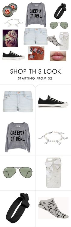 """Day out with the girls"" by adtrftw ❤ liked on Polyvore featuring MANGO, Converse, West Coast Jewelry, Ray-Ban, Wet Seal, Tasha and Forever 21"