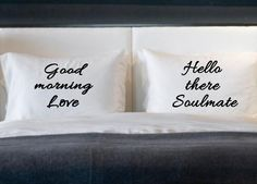 I love these :) Soulmate Love His and Her Pillow cases for standard by eugenie2, $25.00