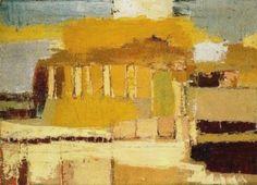 Temple sicilien (1953) Nicolas de Staël (1914-1955), le Géant, a peint une série de paysages à Agrigente,
