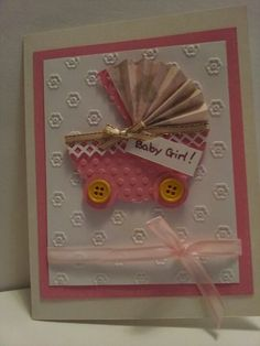 Cute idea for a baby shower card, and seems pretty simple too!