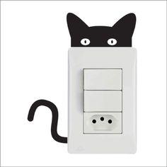 Adesivo de Tomada Cat - Tomadas Cat - Fórmula de Idéias - Adesivos na parede