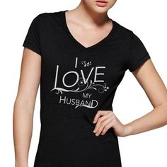 I Love My Husband Official T Shirts, Hoodies. Get it now ==► https://www.sunfrog.com/LifeStyle/i-love-my-husband-ornate-black-vneck.html?41382