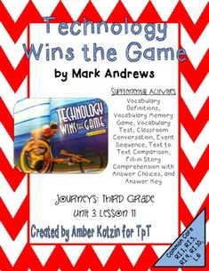The journey of oliver k woodman 3rd grade journeys unit 5 lesson technology wins the game activities 3rd grade journeys unit 3 lesson 11 houghton mifflin harcourtgame fandeluxe Images