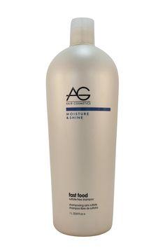 AG Hair Cosmetics: Moisture & Shine Fast Food Shampoo, 33.8 oz farr