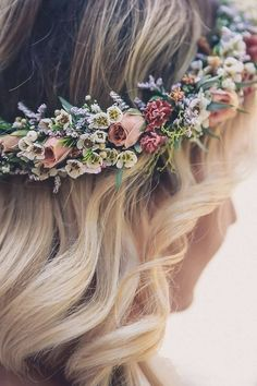 Bespoke Wedding Stationery Design UK This flower wedding crown is an idea to wear later for the dancing /party part of the wedding! The post Bespoke Wedding Stationery Design UK appeared first on Easy flowers. Romantic Flowers, Bridal Flowers, Boho Wedding Flowers, Wedding Hairstyle With Flowers, Boho Flowers, Tropical Flowers, Small Flowers, Purple Flowers, White Flowers
