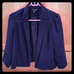 Navy blue blazer! Navy blue blazer! About 20.5 inches long Forever 21 Jackets & Coats Blazers