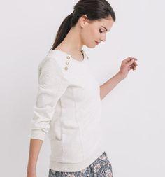 Sweat-shirt+chiné+Femme
