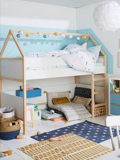 Big Girl Rooms, Boy Room, Kids Room, Baby Bedroom, Girls Bedroom, Bedroom Decor, Kura Ikea, House Beds, Kid Beds