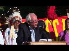 Bernie Sanders apoya la causa Sioux en protestas contra oleoducto Dakota Access