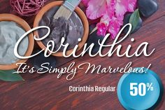 Corinthia Regular 50% Off by TypeSETit on @creativemarket
