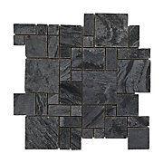 Silver Small Pattern Slate Mosaic