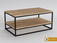stolik drewniany industrialny