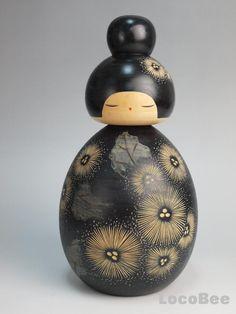Japanese Sousaku Kokeshi Doll by Kawase Yuji / Tanpopo Japanese