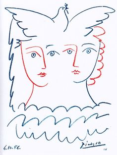 For Sale on - After Pablo Picasso - Women and Dove - Lithograph, Lithograph by (after) Pablo Picasso. Offered by Galerie Philia Fine Art. Pablo Picasso, Kunst Picasso, Art Picasso, Picasso Drawing, Picasso Dove, Georges Braque, Picasso Sketches, Craft Images, Paintings