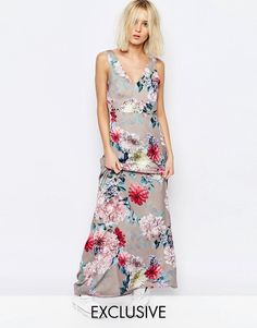 Image 1 of Every Cloud Botanical Floral Yang Maxi Dress