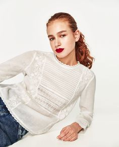Discover the new ZARA collection online. Zara Tops, Spring Outfits Women, Mode Editorials, Yes To The Dress, Basic Tops, Daily Fashion, Editorial Fashion, Women Wear, Fashion Outfits