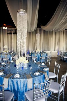 blue and white wedding reception decorations | My Web Value
